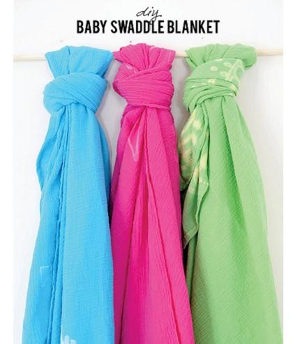Tutorial: Simple gauze swaddle blanket