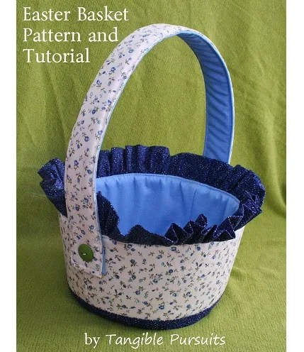 Free pattern: Fabric Easter basket with ruffle trim – Sewing