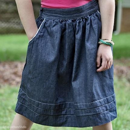 Tutorial: Add side pockets when making a skirt, plus a free pattern