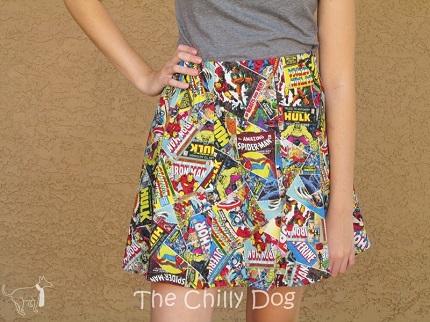 Tutorial: Short flared skirt