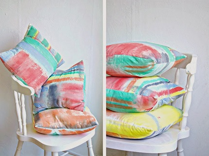 Tutorial: Brushstroke pillow covers