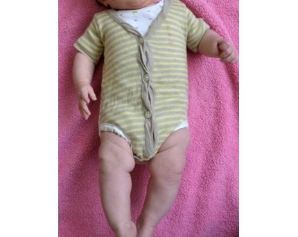 Tutorial: Cardigan onesie refashion