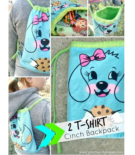 Tutorial: 2-shirt cinch backpack