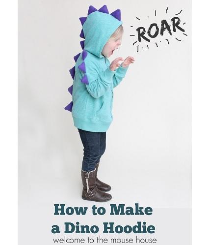 Tutorial Dino Spike Hoodie Sewing