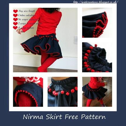 Tutorial: Little girl's twirly pom pom skirt