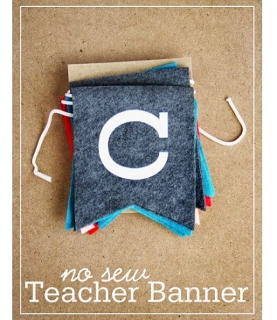 Tutorial: No-sew teacher appreciation banner