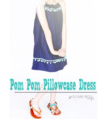 Tutorial: Pom Pom Pillowcase Dress