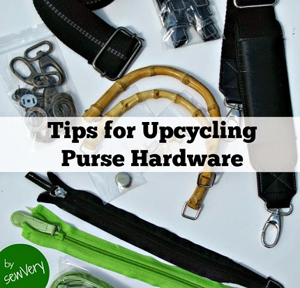 Upcycle purse hardware from thrift store purchases