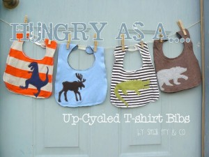 upcycled t-shirt bibs