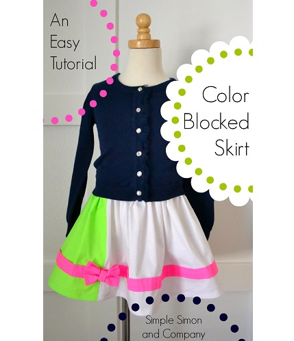 Tutorial: Color blocked bow skirt