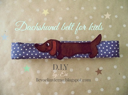 Tutorial: Child's dachshund belt