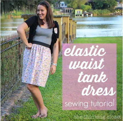 Tutorial: Easy elastic waist tank dress