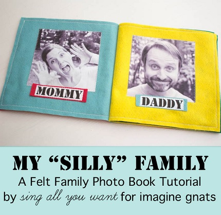 Tutorial: Felt family photo book
