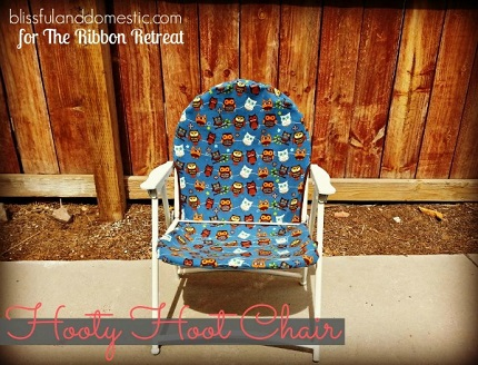 Tutorial: Revamp a folding chair with a new fabric seat and back