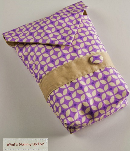 Tutorial: Envelope style diaper or nappy pouch