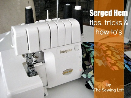 Tutorial: Use your serger for a quick hem finish