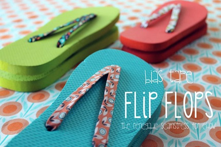 Tutorial: Bias tape flip flops