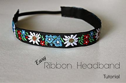 Tutorial: Easy ribbon headband
