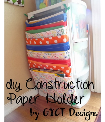 Tutorial: Hanging paper organizer for craft space or classroom