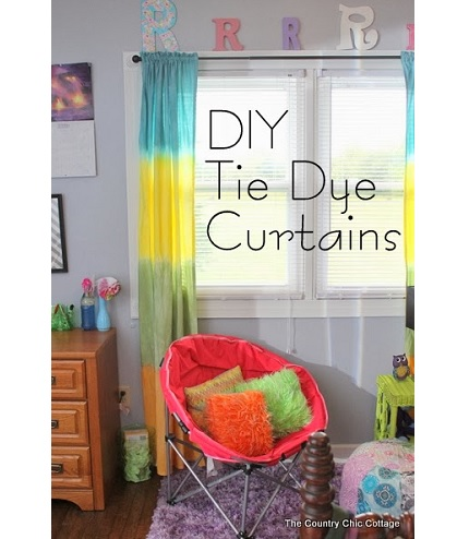 Tutorial: Make tie dye curtains from queen size sheets