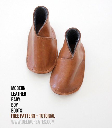 Free pattern: DIY Leather Baby Boy Boots