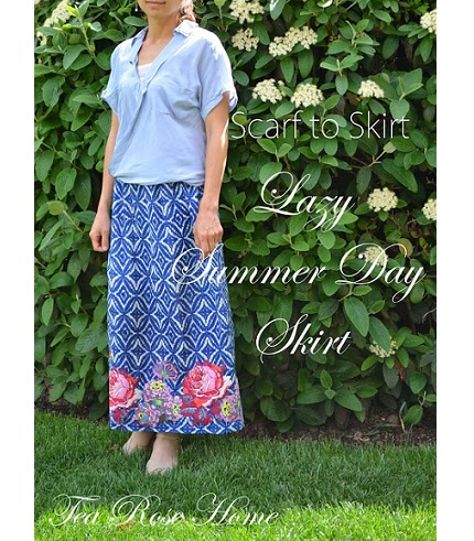 Tutorial: Make a lovely summer skirt from a scarf