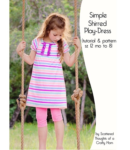 Free pattern: Simple Shirred Play Dress
