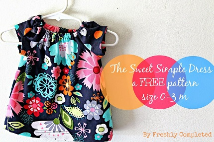 Free pattern: Sweet Simple Dress for baby girls