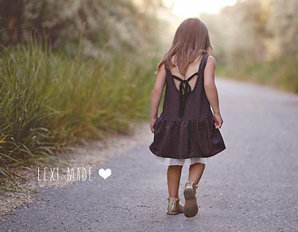 Tutorial: Little girl's drop waist sundress with a high low hem