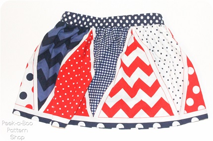 Free pattern: Star Spangled Skort for little girls
