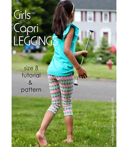 Free pattern: Girls capri leggings