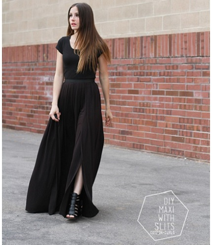 Tutorial: 4-step easy maxi skirt