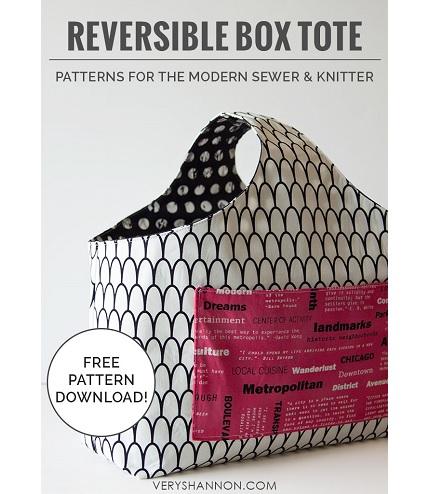 Free pattern: Reversible Box Tote