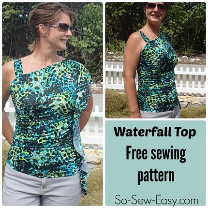 Free pattern: Waterfall top