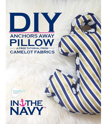 Tutorial: Anchors Away pillow