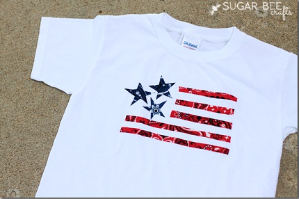 Tutorial: No-sew bandana flag t-shirt