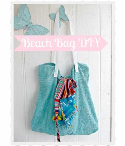Beach Blanket Experiment: Tutorial: Easy Towel Beach Bag
