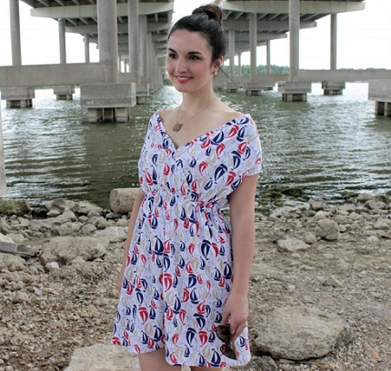 Free pattern: Boat Club Dress and Swimsuit Cover Up