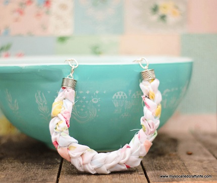 Tutorial: Chunky braided fabric necklace