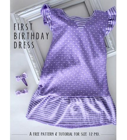 Free pattern: First Birthday Dress