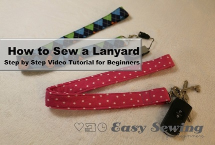 Video tutorial: How to sew a lanyard