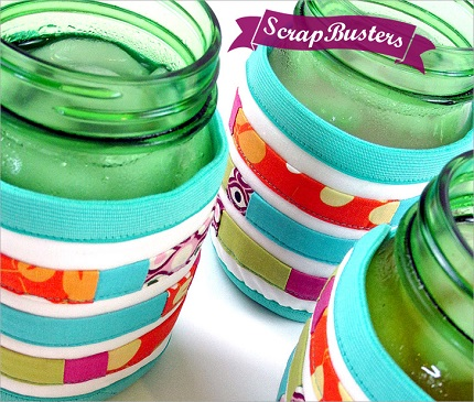 Tutorial: Scrapbusting mason jar wraps