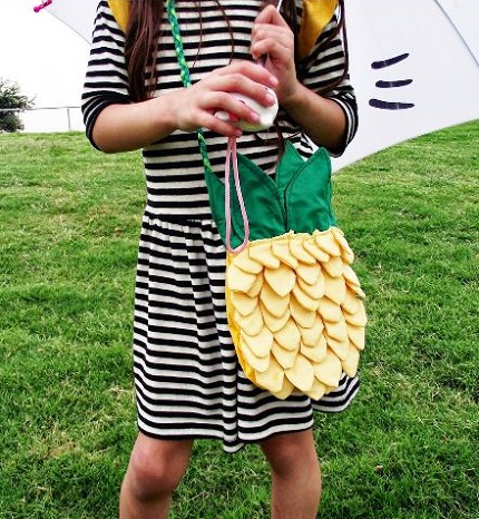 Free pattern: Pinapple bag for little girls