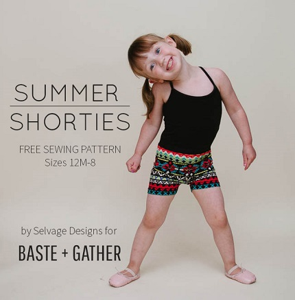 Free pattern: Summer Shorties for little girls