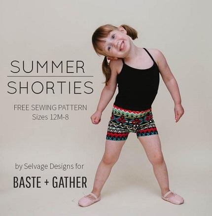 Free pattern: Summer Shorties for little girls
