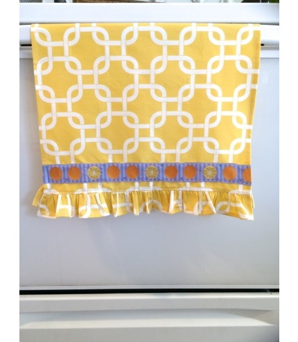 Tutorial: Make a ruffled tea towel