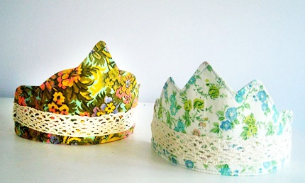 Tutorial: Child's fabric crown, plus 6 free templates