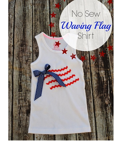 Tutorial: No-sew waving flag 4th of July shirt