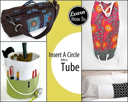 Tutorial: Sewing a tube of fabric around a flat circle