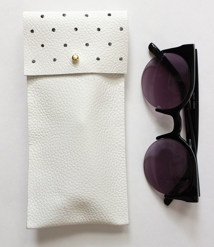 Tutorial: No-sew punch dot leather glasses case